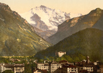 Jungfrau Mountain Over Interlaken Switzerland