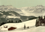 Rhone Valley in Winter, Switzerland