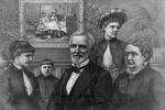 Jefferson Davis With Family