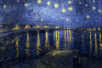 Picture of the Starry Night over the Rhone Painting by Van Gogh