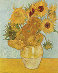 Picture of a Vase with Twelve Sunflowers by Vincent Van Gogh
