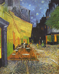 Picture of Cafe Terrace at Night Painting by Vincent Van Gogh