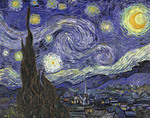 Picture of The Starry Night c 1889 by Vincent Van Gogh