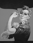 Picture of Rosie the Riveter Without Text, in Black and White