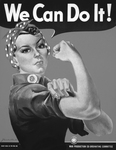 Picture of We Can Do It! Rosie the Riveter in Black and White