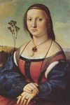 Photo of a Portrait of Maddalena Doni by Raphael