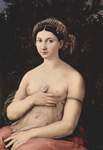 Photo of a Woman Named Margherita Posing With One Hand on Her Breast, La Fornarina, by Raphael