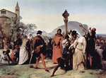 Photo of Scene 3 of Sicilian Vespers by Francesco Hayez