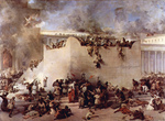 Photo of the Destruction of the Temple of Jerusalem by Francesco Hayez