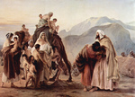 Photo of the Meeting of Jacob and Esau by a Camel