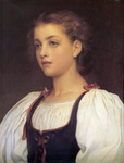 Photo of a Portrait of a Girl, Biondina by Frederic Lord Leighton