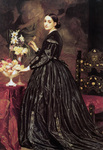 Photo of a Woman and Flowers, Mrs James Guthrie by Frederic Lord Leighton