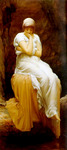 Photo of a Lone Woman, Titled Solitude by Frederic Lord Leighton