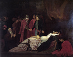 Photo of the Montagues and Capulets Over the Dead Bodies of Romeo and Juliet