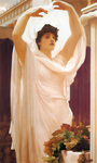Photo of a Beautiful Woman in the Sunlight, Invocation by Frederic Lord Leighton