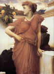 Photo of a Woman Looking Over Her Shoulder, At the Fountain by Frederic Lord Leighton