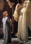 Photo of a Girl Holding a Mirror For a Beautiful Woman, Light of the Harem by Frederic Lord Leighton