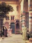 Photo of Women and Girl Trying to Catch Apples From an Apple Tree in a Courtyard, Damascus: Jew's Quarter by Frederic Lord Leighton