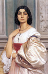 Photo of a Roman Woman, La Nanna by Frederic Lord Leighton