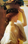 Photo of a Girl Carrying a Basket of Fruit on Her Head, by Frederic Lord Leighton