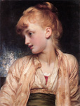 Photo of a Girl Looking Left, Gulnihal by Frederic Lord Leighton