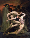 Photo of Men Fighting, Dante And Virgil In Hell, by William-Adolphe Bouguereau