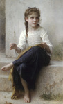 Photo of a Little Girl Sewing by William-Adolphe Bouguereau