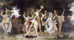 Photo of Nude Men, Women and Centaurs Dancing, the Youth of Bacchus, by William-Adolphe Bouguereau