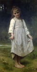 Photo of a Girl Holding Her Dress Out, The Curtsey by William-Adolphe Bouguereau