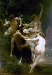 Photo of Nymphes et Satires, Nymphs and Satyr by William-Adolphe Bouguereau