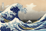 Photo of a Tsunami Wave Near Mount Fuji, The Great Wave off Kanagawa by Katsushika Hokusai