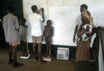 African Children Being Weighed On Scales