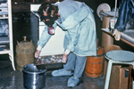 Technician Discarding Blood Specimens Collected During The Ebola Outbreak In Zaire, 1976