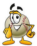 Clip art Graphic of a Baseball Cartoon Character Pointing at the Viewer