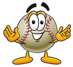 Clip art Graphic of a Baseball Cartoon Character With Welcoming Open Arms
