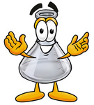 Clip art Graphic of a Beaker Laboratory Flask Cartoon Character With Welcoming Open Arms