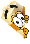 Clip art Graphic of a Construction Road Safety Barrel Cartoon Character Peeking Around a Corner