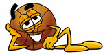 Clip art Graphic of a Basketball Cartoon Character Resting His Head on His Hand