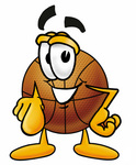 Clip art Graphic of a Basketball Cartoon Character Pointing at the Viewer