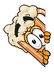 Clip art Graphic of a Frothy Mug of Beer or Soda Cartoon Character Peeking Around a Corner