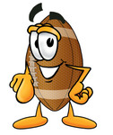 Clip Art Graphic of a Football Cartoon Character Pointing at the Viewer