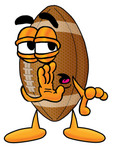 Clip Art Graphic of a Football Cartoon Character Whispering and Gossiping