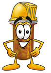 Clip Art Graphic of a Medication Prescription Pill Bottle Cartoon Character Wearing a Hardhat Helmet