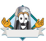 Clip Art Graphic of a Ground Pepper Shaker Cartoon Character Label