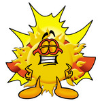 Clip Art Graphic of a Yellow Sun Cartoon Character Dressed as a Super Hero