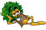 Clip Art Graphic of a Tree Character Resting His Head on His Hand