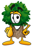 Clip Art Graphic of a Tree Character Pointing at the Viewer