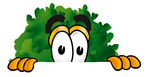 Clip Art Graphic of a Tree Character Peeking Over a Surface