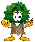 Clip Art Graphic of a Tree Character With Welcoming Open Arms