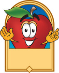 فوائد التفاح 0025-0803-0817-2157_clip_art_graphic_of_a_red_apple_cartoon_character_label